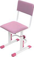 Стул детский Polini Kids City Smart (S, белый/розовый) -