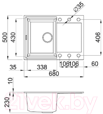 Мойка кухонная Elleci Easy 135 Cemento G48 / LGY13548