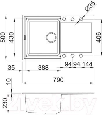Мойка кухонная Elleci Easy 300 Aluminium M79 / LMY30079