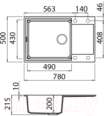 Мойка кухонная Elleci Easy 310 Bianco Antico G62 / LGY31062