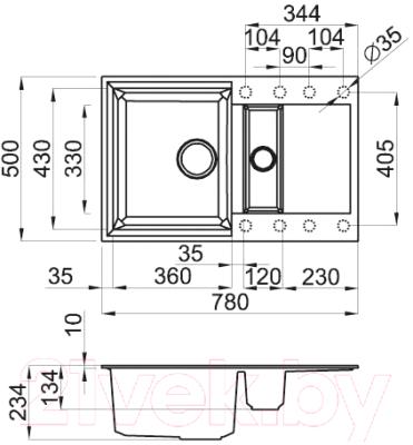 Мойка кухонная Elleci Easy 325 Aluminium M79 / LMY32579