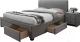 Полуторная кровать Halmar Modena 140x200 (серый) -
