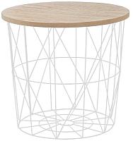 Журнальный столик Halmar Mariffa 42x41 (натуральный/белый) -