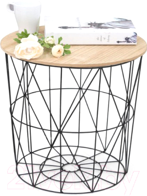 Журнальный столик Halmar Mariffa (натуральный/черный)