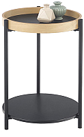 Журнальный столик Halmar Rolo / V-CH-ROLO-LAW (дуб натуральный/черный) -