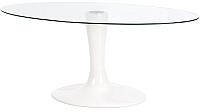 Обеденный стол Halmar Coral / V-CH-Coral-ST (бесцветный/белый) -