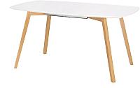 Обеденный стол Halmar Kajetan 135 (белый/медовый дуб) -