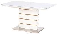 Обеденный стол Halmar Toronto / V-CH-Toronto-ST (белый/золотой дуб) -