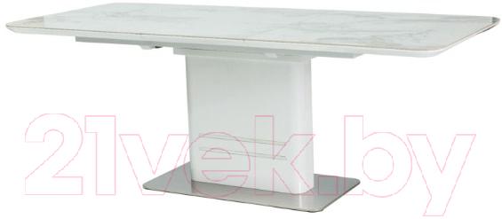 Купить Обеденный стол Signal, Cartier Ceramic 160 (мрамор/белый лак), Польша