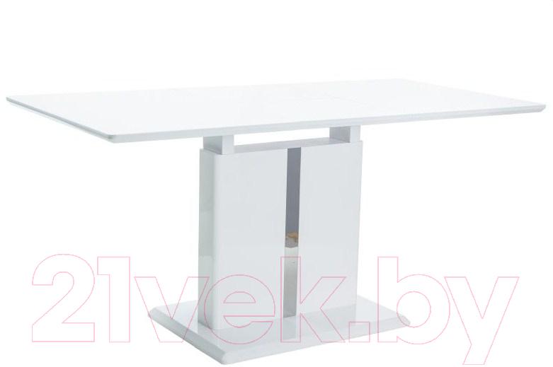 Купить Обеденный стол Signal, Dallas 110 раскладной (белый лак), Польша