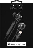 Наушники-гарнитура Qumo Accord Mini (черный/серебристый) -