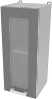 Шкаф навесной для кухни Интерлиния Компо ВШ30ст-720-1дв (серебро) -