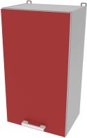 Шкаф навесной для кухни Интерлиния Компо ВШ40-720-1дв (красный) -