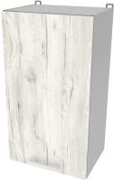 Шкаф навесной для кухни Интерлиния Компо ВШ40-720-1дв (дуб белый) -