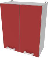 Шкаф навесной для кухни Интерлиния Компо ВШ60-720-2дв (красный) -