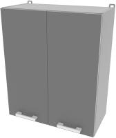 Шкаф навесной для кухни Интерлиния Компо ВШ60-720-2дв (серебристый) -