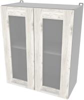 Шкаф навесной для кухни Интерлиния Компо ВШ60ст-720-2дв (дуб белый) -