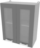 Шкаф навесной для кухни Интерлиния Компо ВШ60ст-720-2дв (серебристый) -