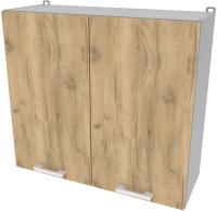 Шкаф навесной для кухни Интерлиния Компо ВШ80-720-2дв (дуб золотой) -