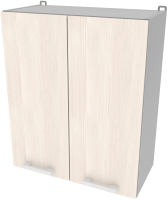 Шкаф навесной для кухни Интерлиния Компо ВШС60-720-2дв (вудлайн кремовый) -