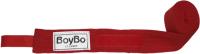 Боксерские бинты BoyBo Хлопок/эластан 3.5м (красный) -