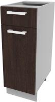 Шкаф-стол кухонный Интерлиния Компо НШ30рш1 (дуб венге) -