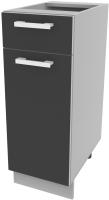Шкаф-стол кухонный Интерлиния Компо НШ30рш1 (антрацит) -