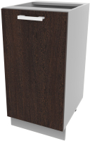 Шкаф-стол кухонный Интерлиния Компо НШ40р-1дв (дуб венге) -