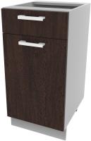 Шкаф-стол кухонный Интерлиния Компо НШ40рш1 (дуб венге) -