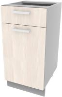 Шкаф-стол кухонный Интерлиния Компо НШ40рш1 (вудлайн кремовый) -