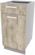 Шкаф-стол кухонный Интерлиния Компо НШ40рш1 (дуб серый) -