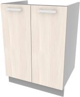 Шкаф под мойку Интерлиния Компо НШ60м-2дв (вудлайн кремовый) -