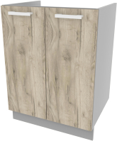 Шкаф под мойку Интерлиния Компо НШ60м-2дв (дуб серый) -
