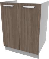Шкаф под мойку Интерлиния Компо НШ60м-2дв (шимо темный) -