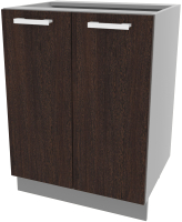 Шкаф-стол кухонный Интерлиния Компо НШ60р-2дв (дуб венге) -