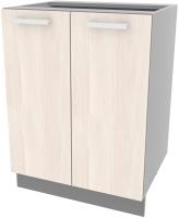 Шкаф-стол кухонный Интерлиния Компо НШ60р-2дв (вудлайн кремовый) -