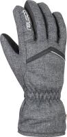 Перчатки лыжные Reusch Marisa / 6031150 7015 (р-р 6, Black Melange/Black) -