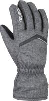 Перчатки лыжные Reusch Marisa / 6031150 7015 (р-р 7, Black Melange/Black) -