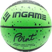 Баскетбольный мяч Ingame Point (размер 7, черный/зеленый) -