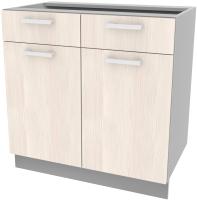 Шкаф-стол кухонный Интерлиния Компо НШ80рш2 (вудлайн кремовый) -