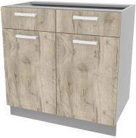 Шкаф-стол кухонный Интерлиния Компо НШ80рш2 (дуб серый) -