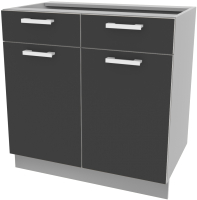 Шкаф-стол кухонный Интерлиния Компо НШ80рш2 (антрацит) -