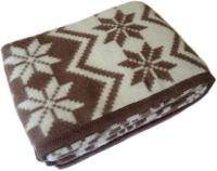 Одеяло Klippan Снежинки коричневый 140x205 (шерсть) -