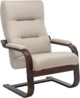 Кресло мягкое Импэкс Leset Оскар (орех текстура/малмо 05/бежевый) -