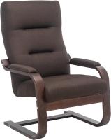 Кресло мягкое Импэкс Leset Оскар (орех текстура/малмо 28/коричневый) -