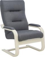 Кресло мягкое Импэкс Leset Оскар (слоновая кость/малмо 95/серый) -