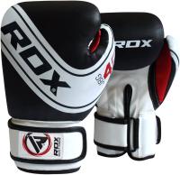 Боксерские перчатки RDX Kids JBG-4B (4oz, белый/черный) -