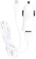 Зарядное устройство автомобильное PARTNER 033501 USB 1A / Apple 8pin (белый) -