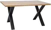 Обеденный стол Signal Xaviero II 150 / Xaviero2DC150 (дуб/черный) -