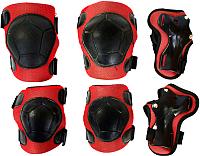Комплект защиты Sabriasport 6103-6106 (черный/красный) -